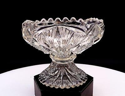 Eapg Imperial Glass #212 Clear Star And Fan 4 5/8  Open Jam / Jelly 1850-1910 • 16.10£