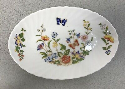 Ansley Cottage Garden Oval Side Plate Fine Bone China Made In England  • 14.99£