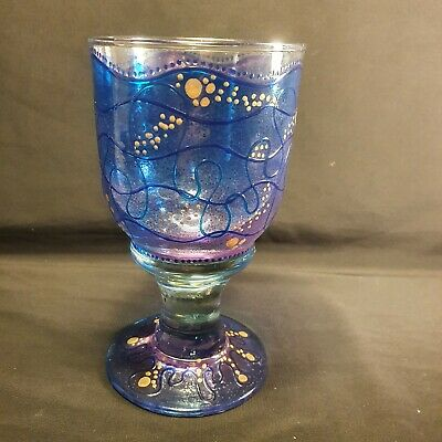 Vintage Hand Blown Goblet By Moira White • 0.99£
