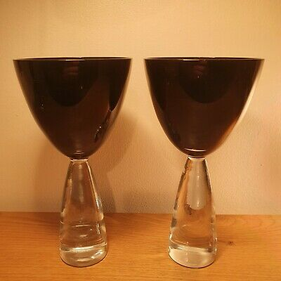2x Royal Doulton Julien MacDonald Ignite Glass Goblets Ruby Red  • 0.99£