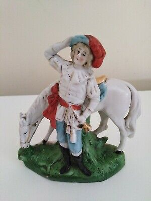 Vintage Porcelain Figure Of Noble Woman Hunter And Horse No: 4948 Germany  • 15£