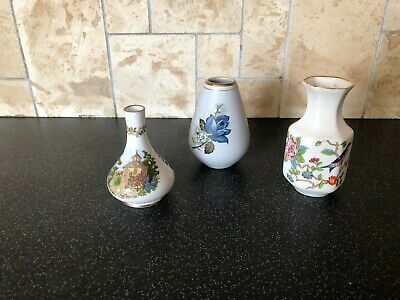 3 X Miniature Vases - Aynsley, Spode And Gouda • 3.99£
