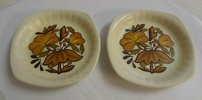 Pair Royal Worcester PALISSY Casual Tableware Ash Trays / Pin Dishes • 0.99£