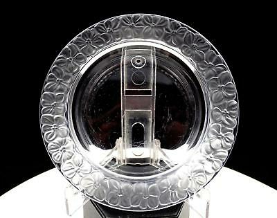 Elegant Clear Glass With Embossed Frosted Floral Rim 5 5/8  Trinket Dish • 18.79£