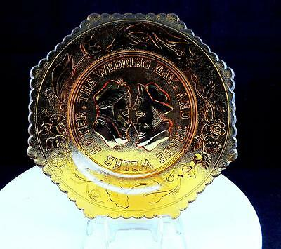 Westmoreland The Wedding Day And Three Weeks After Amber 7 3/8  Octagon Plate • 14.45£