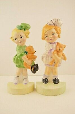 Rare Pair Of Mabel Lucie Attwell Carlton Ware Flatback Figurines, Signed Verso  • 100£