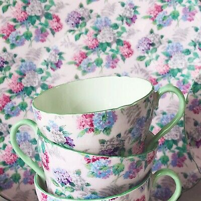 Shelley Summer Glory Chintz Pattern Teacup Trio 1x Cup, 1x Saucer, 1x Tea Plate • 75£