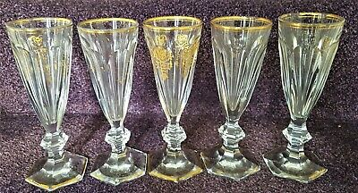 Set Of 5 X Baccarat Empire Crystal Champagne Flutes 7  Tall • 139£