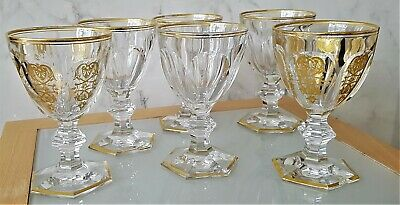Set Of 6 X VINTAGE BACCARAT EMPIRE WHITE WINE GLASSES  : Pre Loved : Need TLC Ep • 175£