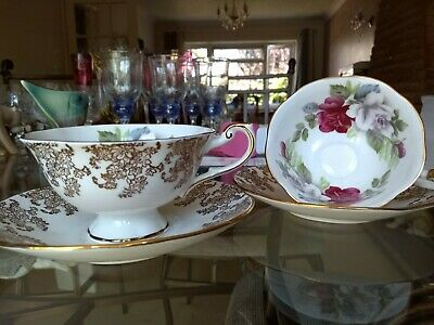 Pair Of Queens Bone China Cup And Saucer • 20£