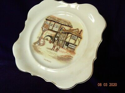 VINTAGE  Cake Stand By Sandland Potteries *The Jolly Drover* RICHMOND • 4.50£