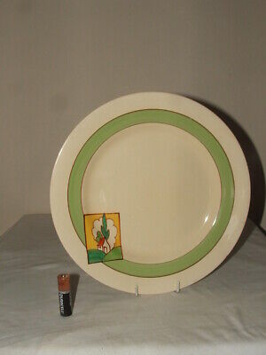 Clarice Cliff Bizarre Art Deco Stroud Abstract Large Dinner Plate Stunning • 9.99£