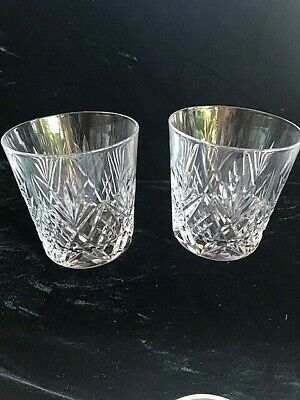 2 X ROYAL BRIERLEY GAINSBOROUGH CRYSTAL WHISKY GLASSES • 20£