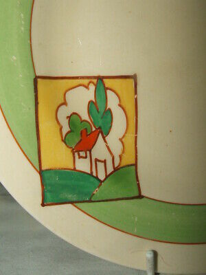 Clarice Cliff Bizarre Art Deco Stroud Abstract Plate Stunning • 9.99£