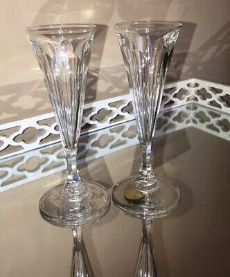 2 Stunning Vintage Crystal Style Champagne, Wine, Prosecco, Glasses, Flutes • 9£