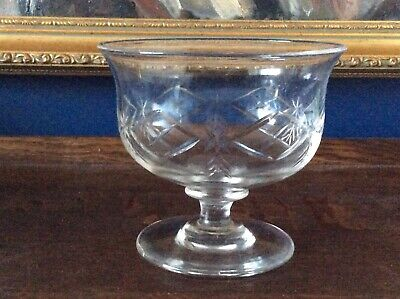 Early 19th Century Georgian Cut Glass Lead Crystal Footed Sweetmeat Dish C1800 • 95£