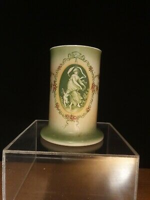 Antique Victorian Quality Neo Classical Hand Painted Vase  • 0.99£