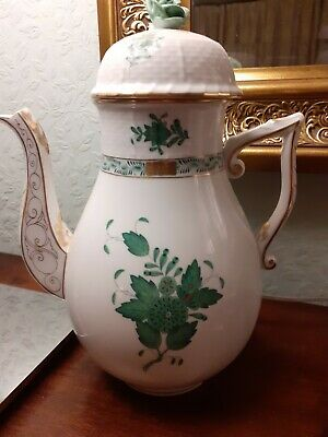 Herend Apponyi Green Large Coffee Pot • 250£
