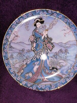 """Royal Doulton Franklin Mint Heirloom Plate """"Princess Of The Iris"""" By Marty Nolle • 10.99£"""