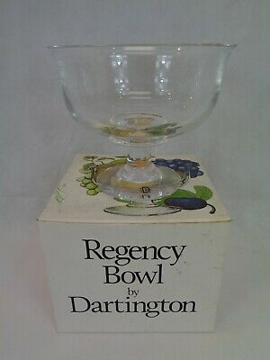 "Dartington FT308 Regency Pedestal Fruit Bowl 24% Crystal 7"" Diameter Boxed • 24.99£"