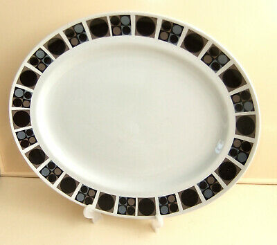 MIDWINTER 1960s FOCUS By BARBARA BROWN LARGE OVAL SERVING MEAT DISH • 6.99£
