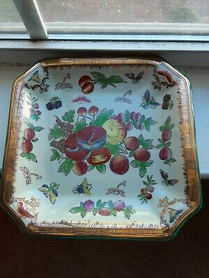 1897 JUWC Hand Painted Gold Trimmed Square Plate • 25.54£