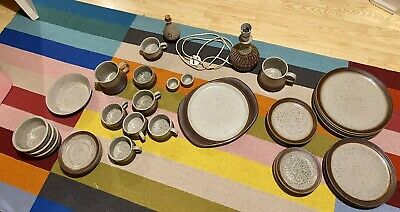 Purbeck Pottery Portland Dinner Set (incomplete) Large Lot • 235£