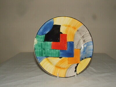 Susie Cooper 4 Grays Art Deco Cubist Plate  So Rare & Truly Stunning • 10.50£