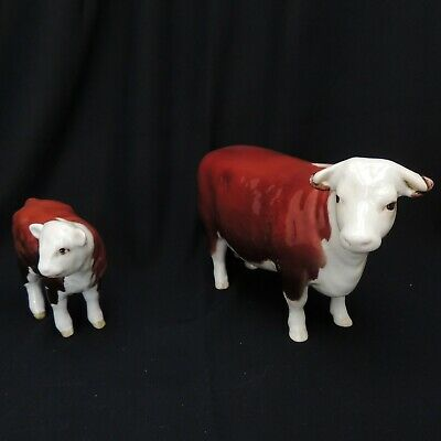 Beswick Hereford Cow And Calf ( Champion Of Champions ) 1st Version • 39.99£