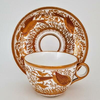Antique Minton Bird Study Richly Gilded Cabinet Cup & Saucer C1810 #1 • 9.95£