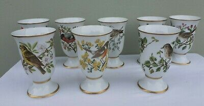 Franklin Vases.Goblets.Songbirds Of Europe.Limited Edition 1981.Made In Japan. 8 • 29.99£