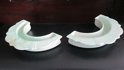 Antique Deco George Clews Pottery Semicircular Posy Vases • 2.99£