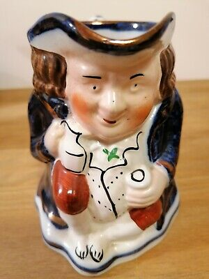 Gaudy Welsh Pottery Toby Jug • 8.75£