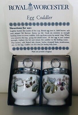 Vintage Porcelain  Egg Coddlers By Royal Worcester, Boxed, Excellent Condition • 2.99£