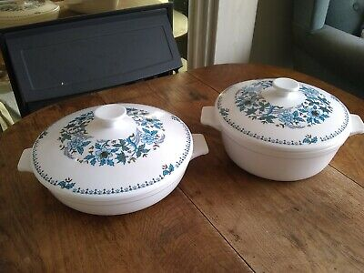 Noritake Blue Moon Japan 9022 China:  2 X Serving Dishes With Lids  • 35£