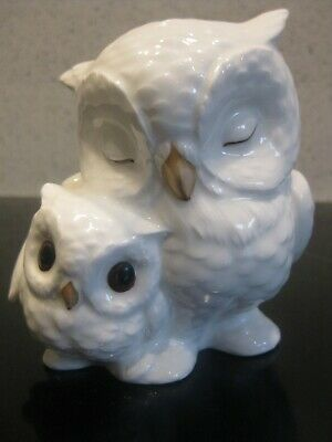 Lovely Royal Osborne Owl Ornament- Mother And Chick A2 • 12£