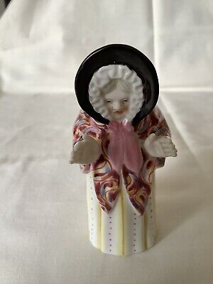 Rare Derby Sarah Gamp Candle Snuffer (Worcester Granny Snow) 1934 • 80£