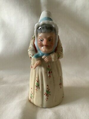 Rare Very Continental Old Woman With Basket Candle Snuffer • 75£