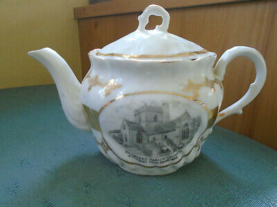 Bromyard Parish Church Hereford Teapot - Picture Crested China - See Pictures • 14.99£