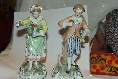 Quality Vintage Pair Of Hand Painted  Dresden Figures • 16.49£