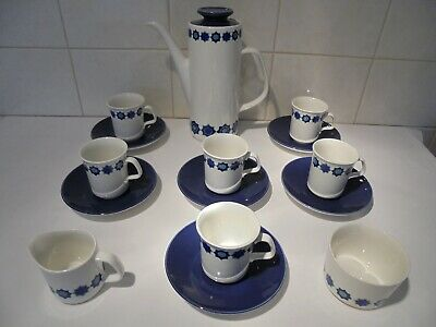 Vintage / Retro J & G Meakin Studio 'cadiz' Coffee Set - 6 Place Setting • 9.99£