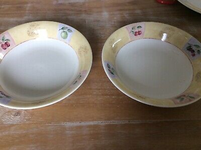 2 X MARKS AND SPENCER HOME POTTERY ST MICHAEL WILD FRUITS Soup Bowls • 4£