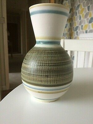 Cinque Ports Rye Pottery 8.5  Vase Blue Green  • 5.50£