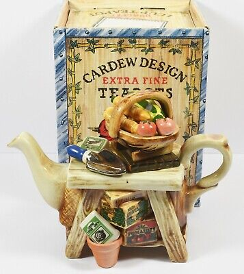 Mint In Box Paul Cardew Collectors One Cup Teapot ~  Gardeners Bench ~ 1996 • 24.99£