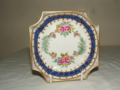 Dresden Vintage Handpainted Ribbons & Floral Fabulous Nut Dish Truly Stunning • 9.99£
