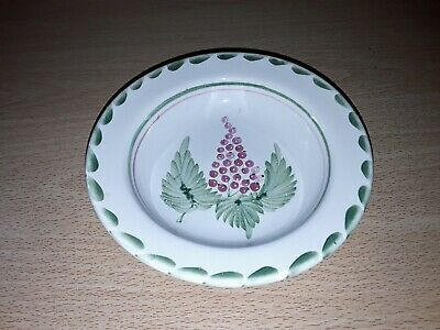 Vintage Rye Pottery Redcurrant Hand Painted Fruit Bowl Signed JC, 14 Cms. • 1.99£