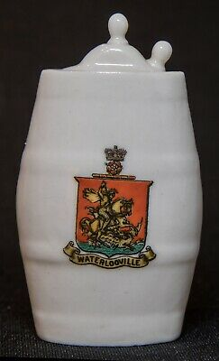 W H Goss Crested China Model Of Waterloo Bottle MATCHING CREST WATERLOOVILLE • 18£