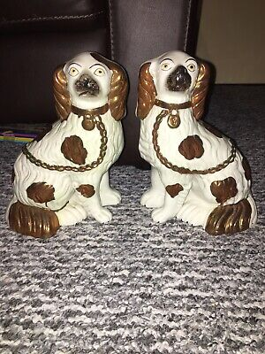 Antique Staffordshire Flat Back Dogs • 60£