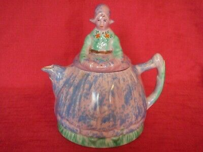 Stunning Art Deco Arthur Wood Dutch Lady Design Teapot • 8£