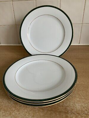 Boots Hanover Green - 4 X 21 Cm Salad Plates Excellent Condition • 28£